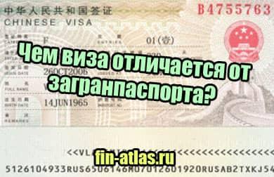 фото Чем виза отличается от загранпаспорта