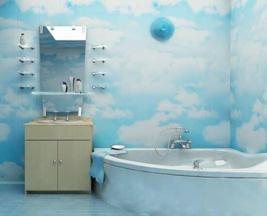 фото Чем дешево отделать стены в ванной